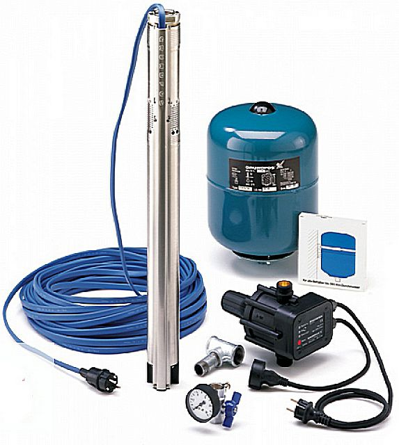 Для примера – комплект скважинного насоса «Grundfos SQE 2-85»