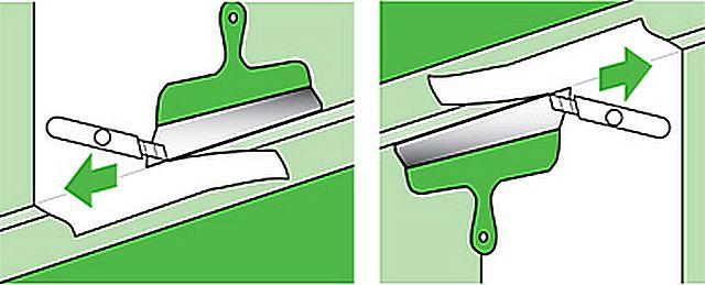 Обои всегда наклеиваются с припуском на обе стороны, и затем точно подрезаются по месту.