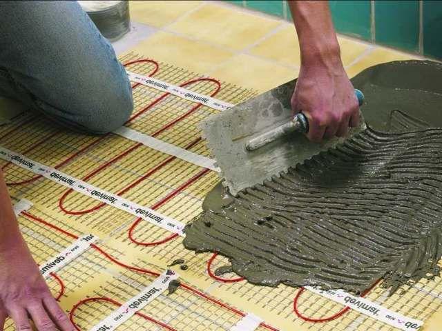 Есть возможность смонтировать теплый пол по старому керамическому покрытию, не прибегая к его демонтажу