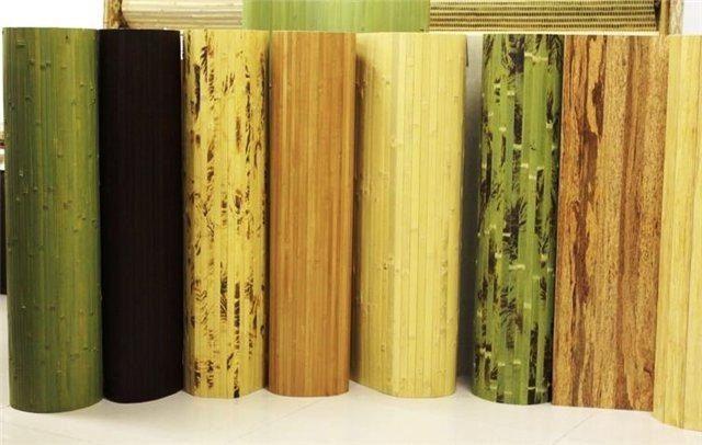 Разнообразие бамбуковых обоев и циновок для стен
