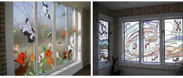 Тонирующие пленки одновременно могут служить и украшением интерьера балкона или комнаты