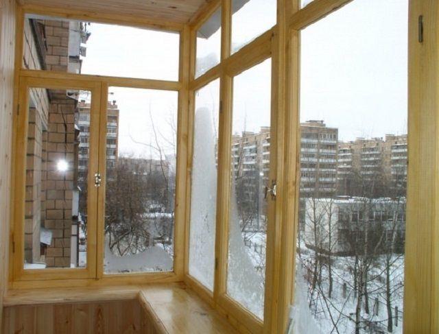 Обычные деревянные рамы с одинарным стеклом