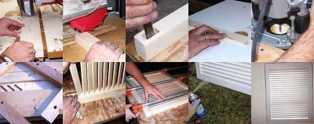 Этапы работы над дверцами – жалюзи