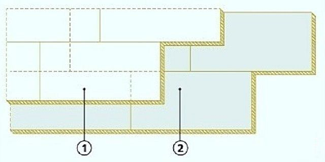 Схема укладки плит утеплителя на плоскую кровлю