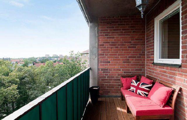 Ремонт балкона в кирпичном доме..
