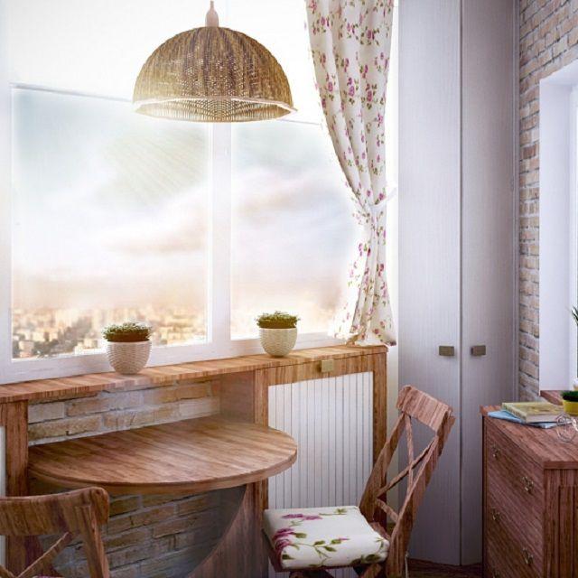В «прованском» стиле можно оформить и совсем небольшой по площади балкон