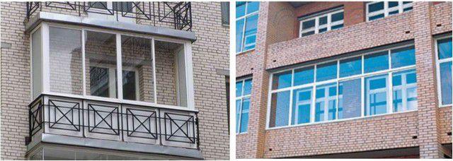 Балкон (слева) и лоджия – разница в принципиальной конструкции предопределяет и некоторые особенности проведения ремонтных, утеплительных и отделочных работ