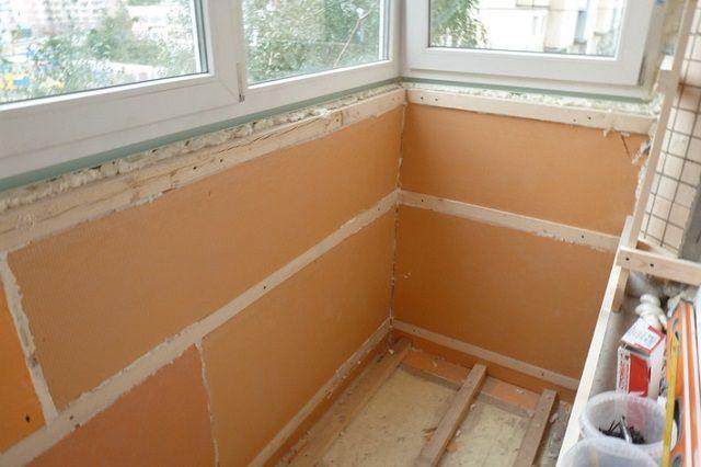 В данном случае принято решение утеплить балкон плитами пеноплекса