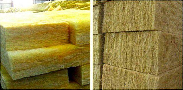Исходные характеристики – весьма схожи, но предпочтение все же лучше отдать базальтовой минвате (справа)