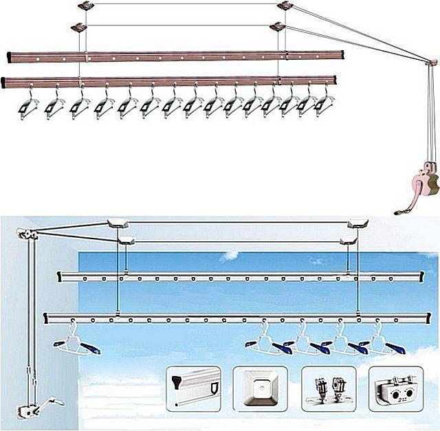 Потолочная сушилка для белья на балкон - как выбрать подходя.