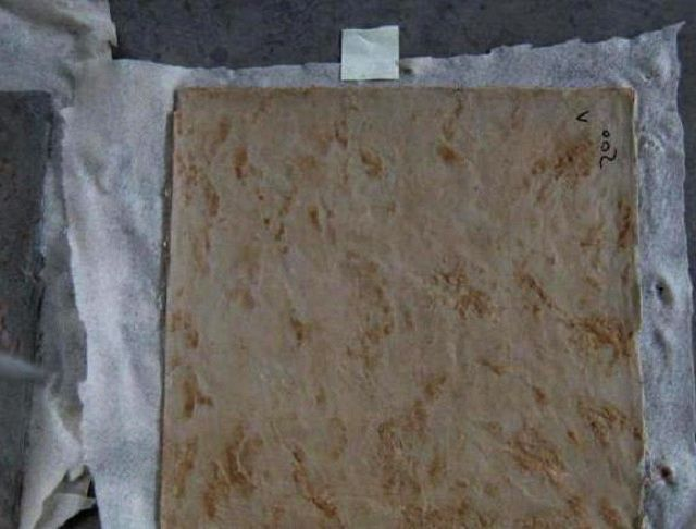 Процесс изготовления гибкого «камня» на тканевой основе