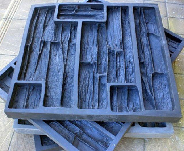 Формы-матрицы для отливки искусственного камня под скалистую выветренную породу