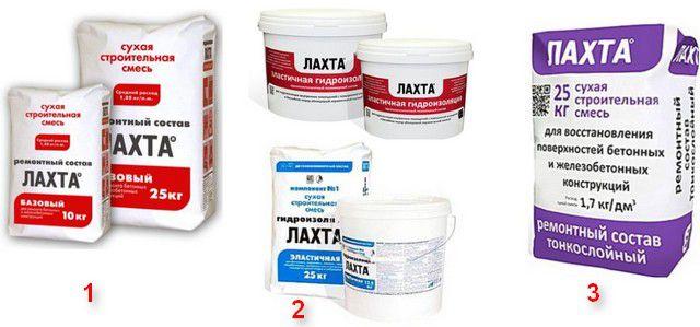 Рекомендуемые составы для проведения ремонта и гидроизоляции балконной плиты