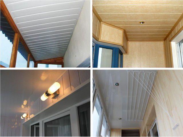 Потолок на балконе варианты.