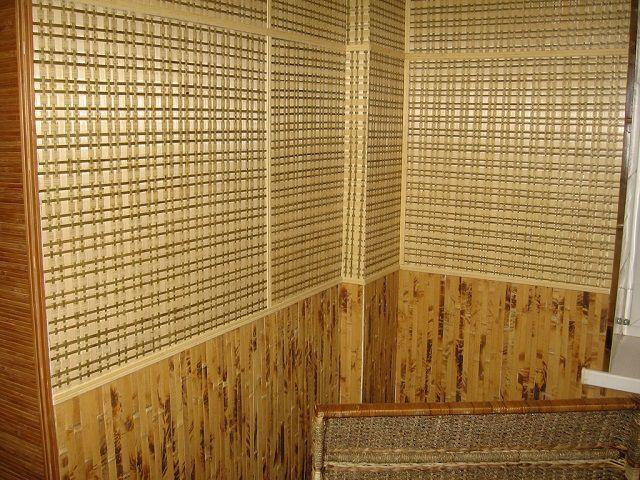 «Букет» достоинств бамбуковых обоев делает их отличным отделочным материалом именно для лоджий и балконов