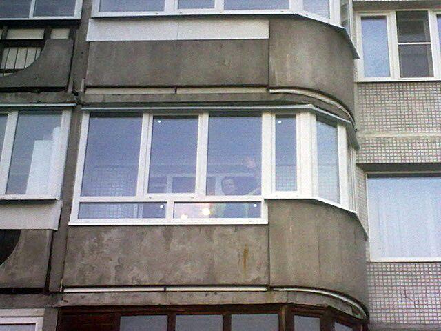 Балкон со скругленным торцом