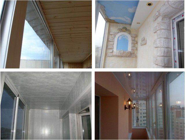 Вариантов отделки потолка на балконе – немало, и владельцам квартиры предоставляется широкий простор для выбора