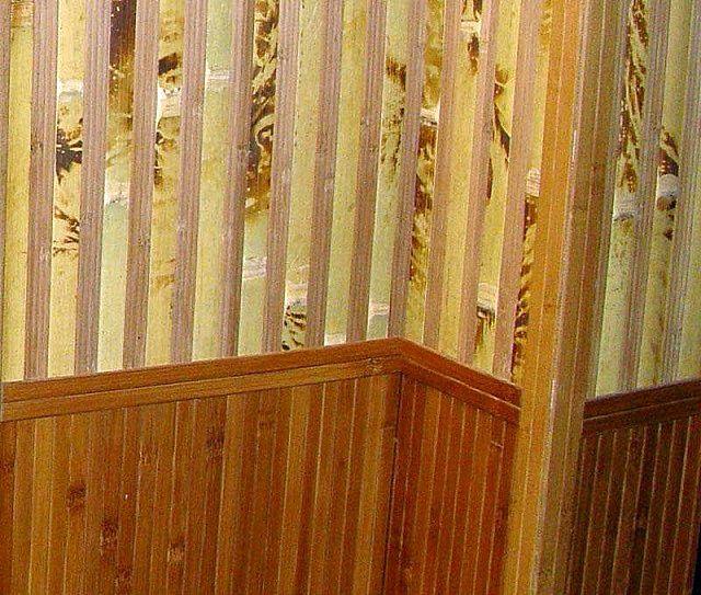Комбинированная отделка: бамбук + дерево