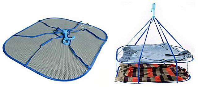 Подвесная сушилка с сеткой для предметов одежды из деликатных тканей