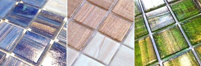 Мозаика из стекла с минералами