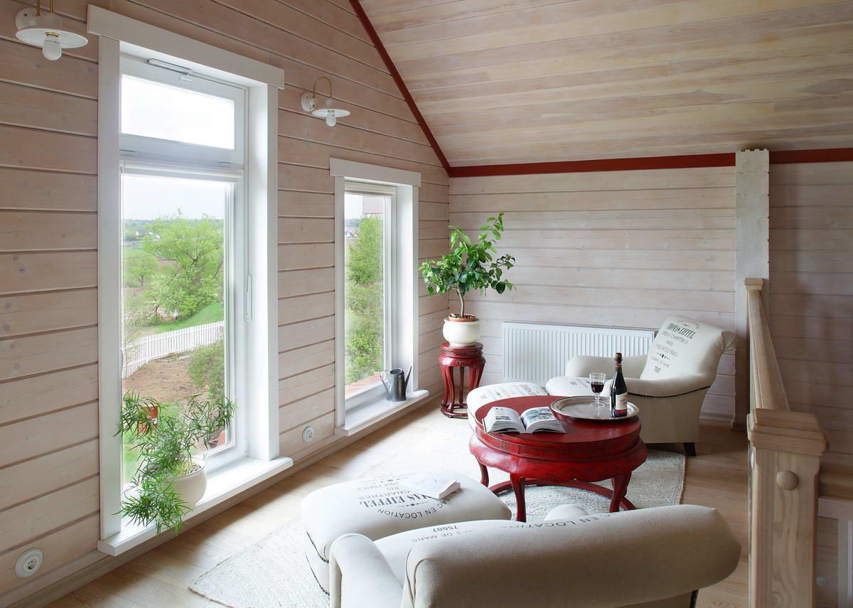 Покраска внутри веранды дома фото лес