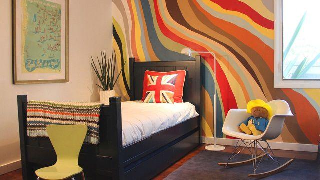 Окрашенные стены – это вовсе не обязательно однотонная отделка