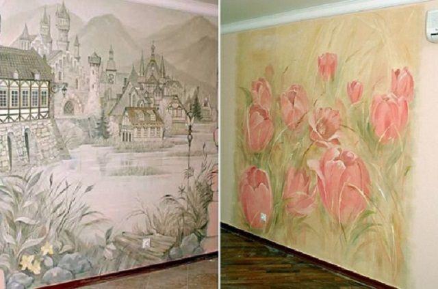 Стены, расписанные водорастворимыми красками