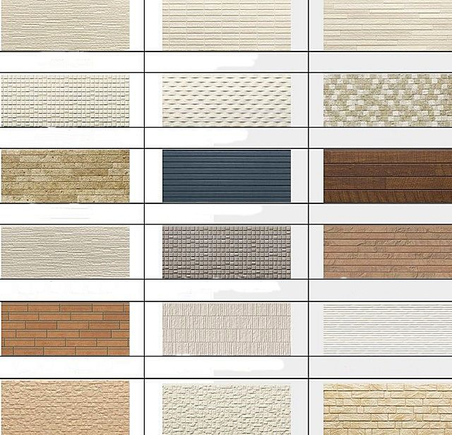 Возможные варианты декоративного оформления фасадных панелей «LTM»