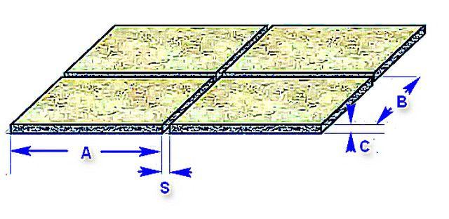 Графическая схема для расчета количества затирки