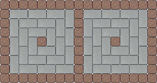 Комбинация гранитной и бетонной бручатки