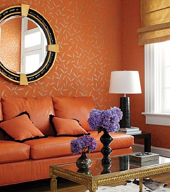 Согласитесь, что долгое пребывание в такой яркой оранжевой гостиной вряд ли принесет спокойствие и расслабление