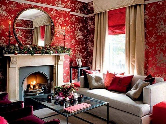 Резкость красного цвета приходится «глушить» другими элементами интерьера, да и это получится не всегда. От такой отделки лучше отказаться