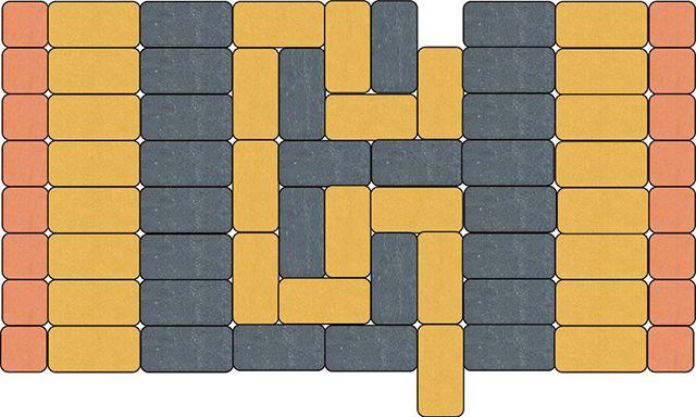 Пример фрагмента (паттерна) дорожки с орнаментом из брусчатки
