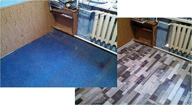 Ремонт пола в комнате частного дома с установкой пленочного подогрева