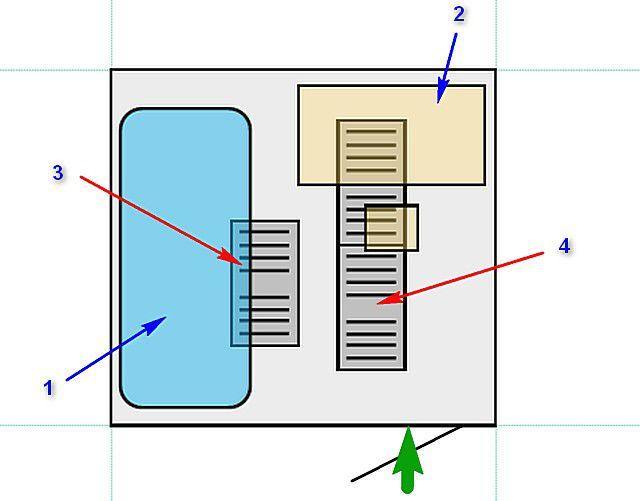 Планируемое расположение нагревательных пленочных элементов