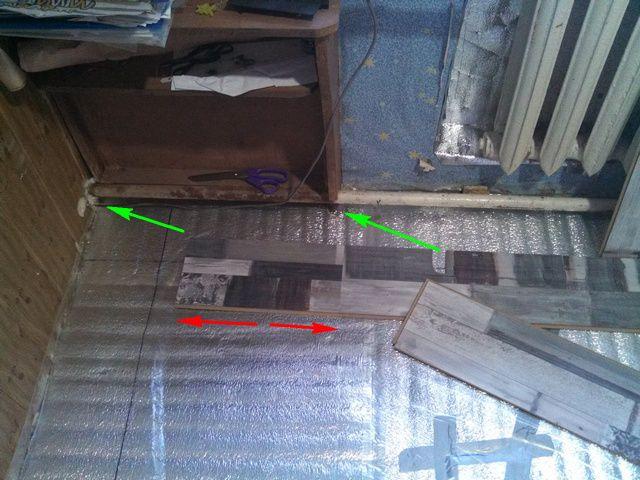 На картинке показаны приготовления к укладке стартового ряда в «первой версии»