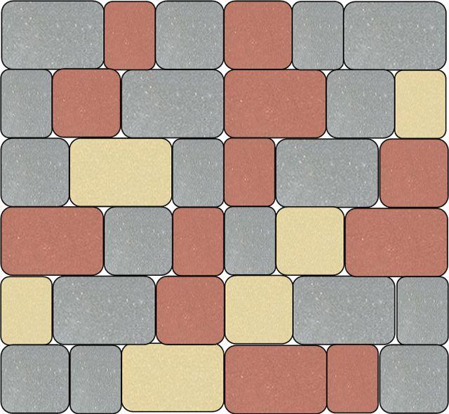 Пример раскладки брусчатки из набора «Старый город - 1»