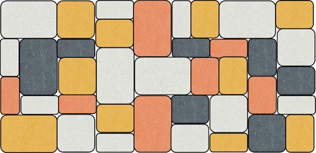 При раскладке брусчатки можно элементы ориентировать как горизонтально, так и вертикально