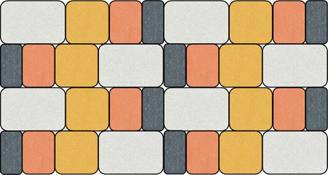 Брусчатка «Старый город - 2» уложенная с периодическим повтором размеров и цвета элементов