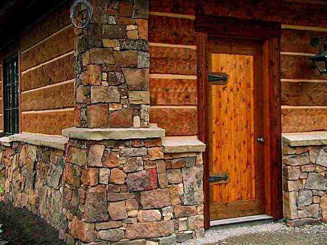 Цоколь дома отделка под камень из цементного раствора орт бетон