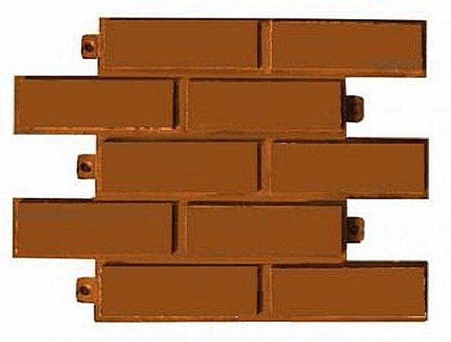 Фигурные полимер-песчаные панели для облицовки цоколя или стен