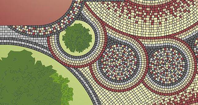 Один из примеров визуализации покрытия из брусчатки в профессиональной программе