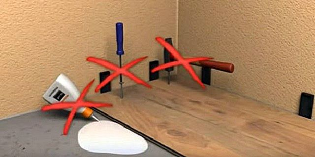 Ламинированное покрытие должно быть уложено по {amp}quot;плавающему{amp}quot; принципу - оно никогда и никак не соединяется жестко ни со стенами, ни с поверхностью пола