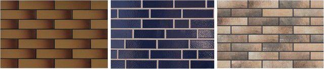 Несколько образцов глазурованной клинкерной плитки