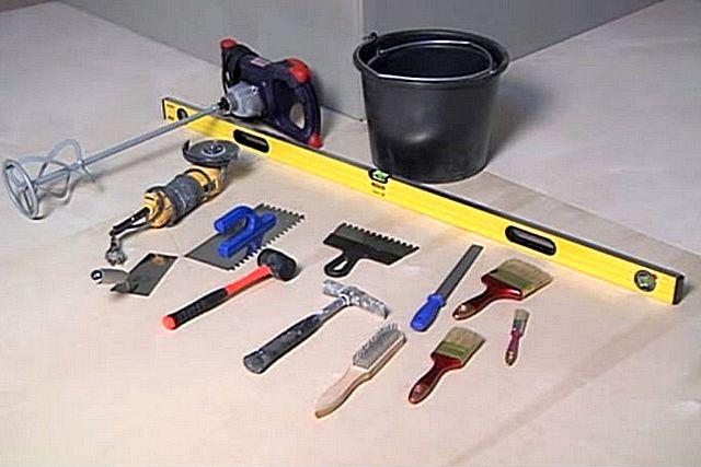 Инструменты для самостоятельной укладки клинкерной плитки.