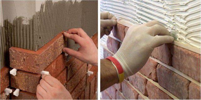 Два разных подхода – выдерживание единой толщины швов с помощью крестиков и калибровочных вставок