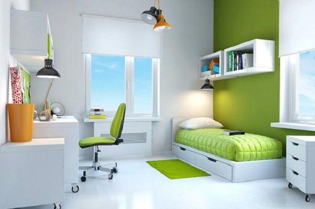 Многим подросткам, в том числе и девушкам, очень нравится современный стиль оформления комнаты «хай-тек»