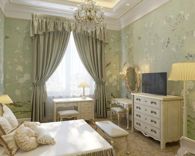 В классическом стиле оформлению стен должны соответствовать и предметы интерьера