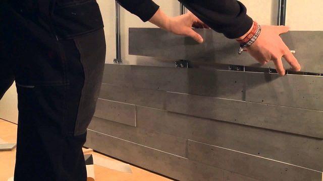 Некоторые типы отделочных деревянных панелей имеют собственную оригинальную систему скрытого крепления к направляющим каркаса
