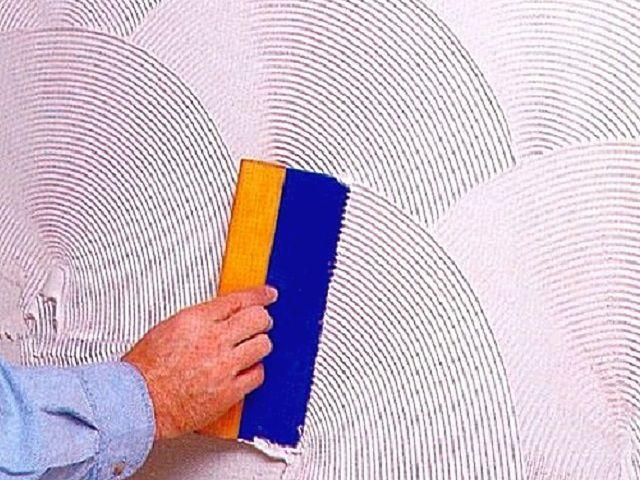 Создание рельефа с использованием специальной гребенки